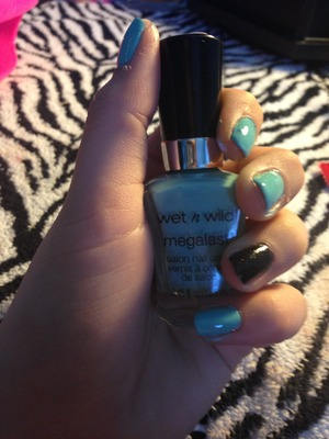 """Wet and wild nail polish in """"I need a refresh- mint"""" best baby blue ever and 4 only like $2 amazing"""