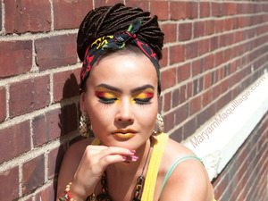 Inspired by Afro-Caribbean culture :) All info on my blog: http://www.maryammaquillage.com/2012/04/rasta-maryam.html