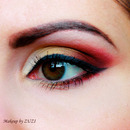 Smoky Eye With Red