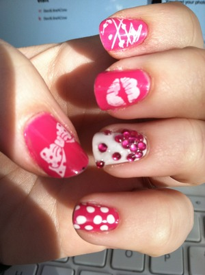 My valentines nails. Pretty sure the website i'm on in the background is Beautylish lol.