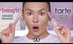 BENEFIT BOI ING CAKELESS VS TARTE SHAPE TAPE CONCEALER | Maryam Maquillage