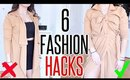6 WAYS To Knot Your Clothes | SIMPLE FASHION HACKS