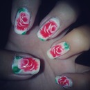 One Stroke Flower Nail Art