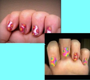 I made a tutorial on these nails that are fun and colorful! Here are two different versions of the same look! Check out the tutorial here! http://www.youtube.com/watch?v=K3sgxu6Ymw8&list=UUEAemt1UtBwWHE9GKkAOKVA&index=1&feature=plcp