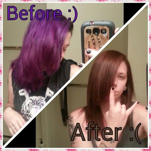:( no more purple, I want to cry