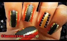 Glam nails | New year party nails.