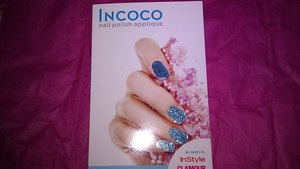 Birchbox - September 2011 Incoco turqoise/teal glitter nail polish stickers
