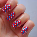 Patriotic Polka Dot Nails