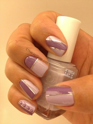 Milani & Essie using silver tape