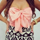 Sexy dress with a bow