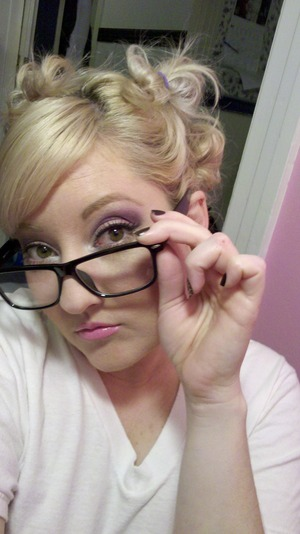 having a silly night. We decided to wear our glasses out. But I can't go out looking like a complete nerd... ;-)