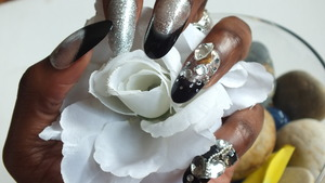 A Close Up view of me wearing Nazila Love Glamour's Nail Glitz. I am absolutely in love with these nails . . .so much so I did a video on them  http://www.youtube.com/watch?v=8dNsDvlDmxY&feature=g-upl