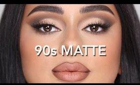 90's MATTE MAKEUP TRANSFORMATION! | Hindash