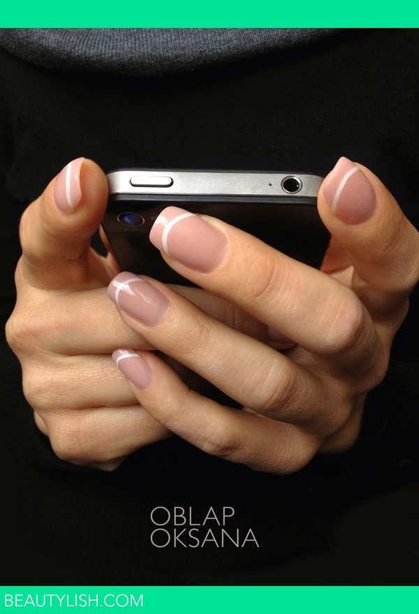 French nail | Oksana Oblap o.\'s Photo | Beautylish