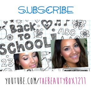 Back to school drugstore makeup tutorial is on my channel! Make sure to subscribe!