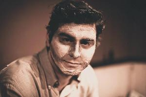 Sepia Full Face Makeup I designed and applied for a Student Production at USC.