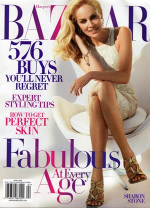 Sharon Stone - Harper's Bazaar