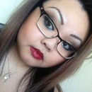 Makeup with glasses