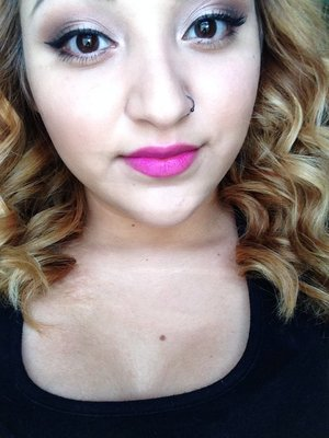 I tried the maybelline vivid lipsticks and loved this pinky purple lipstick :)