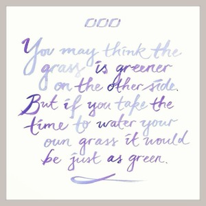 Water your own grass xoxo #regram @ljclarkson @lornajaneactive #mindfulmonday #mondaymantra #inspiration  #intention #life #wisdom #grace #blossom