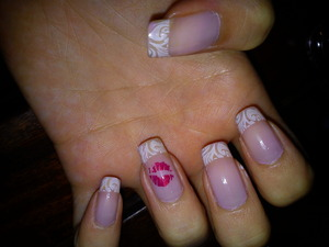 My French/Pre-Valentine nail look <3