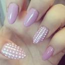 lilac and dots nails