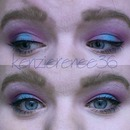 Blue and Fuschia Eye look