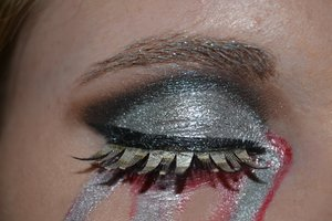 Cyborg makeup for halloween or dress up.