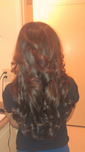 Sister n laws hair after I put in extensions..