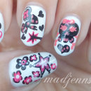 Girlish Skull Nail Art