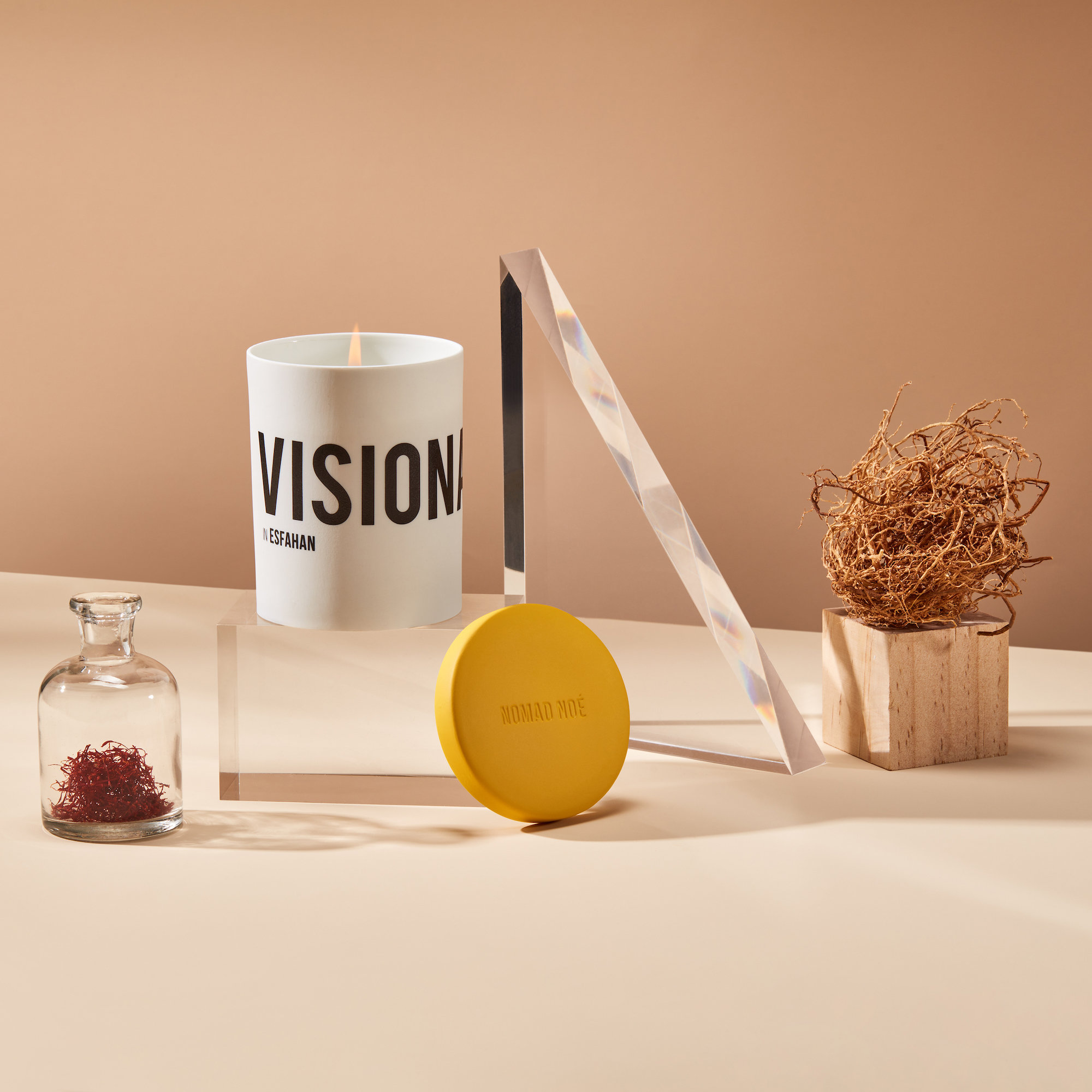 Alternate product image for Visionary In Esfahan - Saffron & Rose Candle shown with the description.