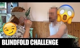 "La mia ""SPACCIATRICE"" mi trucca da bendata! Blindfold Makeup Challenge"