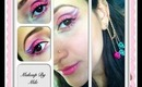 Pink and Purple Cat Eye Makeup Look TUTORIAL  Breast Cancer Awareness Inspired