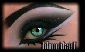Arabic Black Smoky Eyes with Glitter - Dramatic Make Up Tutorial ft Illamasqua