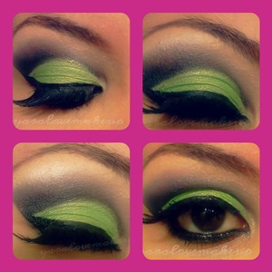 Green and black using my 120 palette <3