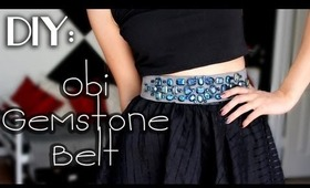 ✂DIY: Obi Gemstone Belt