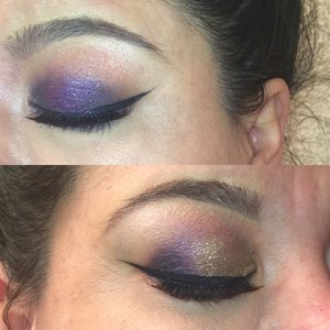 Did two different smokey eyes on her so she could decide which one she would like on her big day!