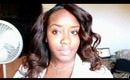 Pin curls with Virgin Brazilian Wavy Hair