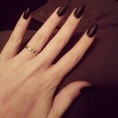 Matte Black Stiletto/Almond Nails! DIY