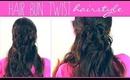 ★ CUTE HAIR-BALL BUN HALF-UP HAIRSTYLE TUTORIAL | FOR MEDIUM LONG HAIR | Everyday Peinados