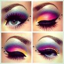 Beautiful colorful eye