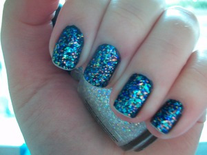 China Glaze Snow Globe & OPI Russian Navy  To read my review of the polishes please visit my blog:  www.mazmakeup.blogspot.com