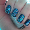 China Glaze Snow Globe & OPI Russian Navy