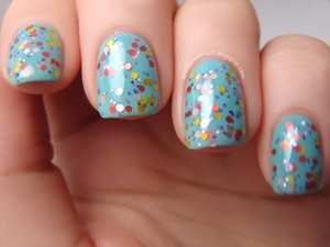 Lollipop Princess, my own creation, layered over Wet n Wild I Need A Refresh-Mint.