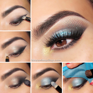 All details and products on my blog: http://www.maryammaquillage.com/2013/10/mermaid-eyes-easy-halloween-makeup.html