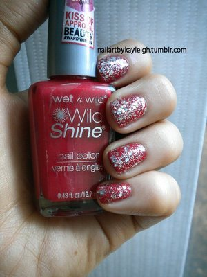 Wet n Wild Wild Shine in Red Red LA Girl Glitter Addict in Explosion