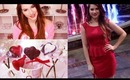 Valentine's Day Hair, Makeup, Outfit & Cute V-day Heart Lollipops!