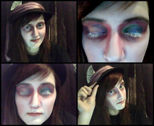 full mad hatter make up :D I had lots of fun wearing this! (wore it for hours) haha, ENJOY and go mad