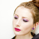 Purple Eyes With A Hot Pink Lip