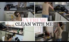 EXTREME KITCHEN CLEAN WITH ME UK WITH MUSIC | CLEANING MOTIVATION UK